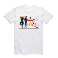 Wholesale spiked shirts - Asian Size Unisex Printing Cowboy Bebop T-shirt Summer Casual O-Neck Short Sleeve Spike Spiegel Anime Tshirt HCP4414