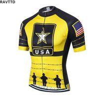 equipo usa ropa al por mayor-EE. UU. Equipo Pro Ciclismo Camisetas Manga corta Bicicleta de carretera bicicleta Top jersey Ropa Mtb Ropa de bicicleta Ropa
