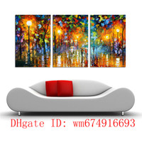 Wholesale People Oil Painting Canvas - People Walking On The Street, 3 Pieces Home Decor HD Printed Modern Art Painting on Canvas (Unframed Framed)