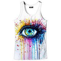 Wholesale big 3d art for sale - Group buy 3D Printed Vest Women Art Clothing Vests D Sports vest Graffiti Big Eye d Print Sleeveless Fitness Summer Tank Top