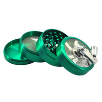 Wholesale herb spice hand grinder resale online - Colorful Hand Shaking Parts Zinc Alloy Herb Grinder Spice Miller Crusher High Quality Beautiful Unique Design Strongest Magnetic DHL Free