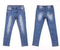 denim caprihose für frauen großhandel-Verkratzte Zerrissene Jeans für Frauen Röhrenjeans Capri Jeans Damen Stretch Weibliche Jeans Vaqueros Mujer Slim Pencil Pants für Frauen