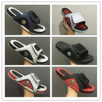 Wholesale plush flip flops - Wholesale new 13 slippers 13s Blue black white red sandals Hydro Slides basketball shoes casual running sneakers size 7-13