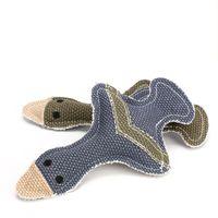 juguetes grises al por mayor-Duck Shape Squeaky Pet Chews Juguete Linen Puppy Cat Sound Toys Gris Azul Nuevo llega 4 27zj C R