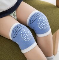 Wholesale baby safety knee pads online - Baby Knee Protector Anti Slip Knee Pads Cotton Baby Socks For Newborns Baby Safety Crawling Elbow Cushion Leg Warmers SK11