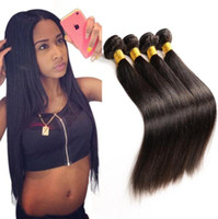 Wholesale malaysain hair weave for sale - Group buy Malaysain Straight Hair Weaves Unprocessed A Quality Human Hair Extensions Dyeable bundles No shedding No Tangle