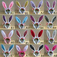 ingrosso cravatta decorazioni per le feste-Lovely Girls Coniglio Bunny Ears Fascia Festa di Pasqua Decorazioni Cosplay Donna Coda Cravatta Festa di compleanno Costume Prop Hairbands regalo