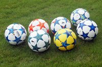 Wholesale Quality Soccer Balls - Good quality 2013-2018 The Europe Champions League football ball Stars Anti-skid particles match training Soccer ball size 5