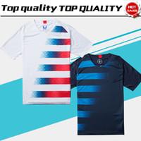 ingrosso camicie uniformi per la vendita di uomini-2018 America Home Soccer Jersey 2018 Stati Uniti casa Soccer Shirt USA uomini adulti # 10 PULISIC Football Uniform Sales
