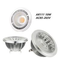 галогенные точечные лампы оптовых-12W AR111 Светодиодные лампы G53 24 градусов 50W-75W Галогенные Замена Cree COB LED G53 AR111 Рефлектор Точечный светильник для Встраиваемый Потолочный светильник Trac