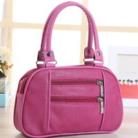 Wholesale stylish bags for men - small bags for women 2017 New handbag pu stylish double zipper bag for middle - aged mother tote bag womens handbags and purses