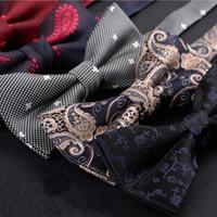 lazo de matrimonio al por mayor-corbatas de lazo para hombres lote comercial Venta de alta calidad Boda comercial formal corbata de mariposa corbata de lazo matrimonio masculino