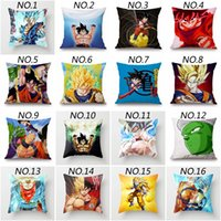 Wholesale japanese balls for sale - 49 Species Home Decoration Home Living Japanese Anime Dragon Ball Super Saiyan Z Goku Dragonball Anime Cushions Pillows Cover