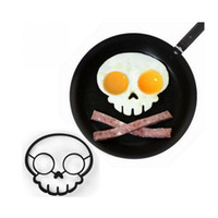 Wholesale Microwave Eggs - Fashion Cartoon Omelette Mold Easy To Clean Skull Shape Fry Egg Mould For Microwave Oven Dishwasher Pancake Cooking Tool Creative 2 8bh B