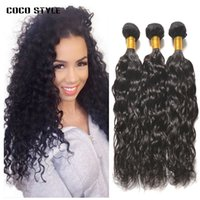 Wholesale leila resale online - Brazilian Virgin Hair Water Wave Bundles Leila Double Wefts Wet And Wavy Human Hair Extensions Weaves inch Brazilian Water Wave