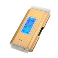 tester atx großhandel-Freeshipping LCD PC Versorgungs-Tester-Stromversorgung 20/24 Pin 4 PSX ATX BTX ITX SATA HDD Gold