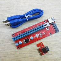 Wholesale Ver S PCI E PCI Express x To x riser Card usb3 Cable SATA power cable PCIE Riser for bitcoin mining BTC Graphics card In Stock