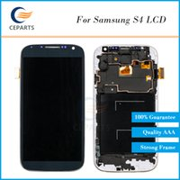Wholesale Replacement Screen For S4 - Grade AAA For Samsung Galaxy S4 i337 i9505 i9500 m919 LCD Display Touch Screen Assembly Replacement Parts With Frame for Samsung S4 Panel