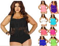 a8892a748c Wholesale fringe monokini plus size swimsuit online - 1 Set Plus Size  Swimwear For Women Fringe Find Similar