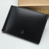 Wholesale Men Luxury Brand Genuine Leather MT Wallet Man Credit Card Holder Classic Luxurious Metal Cufflink Man Jewelry Suit MB Cuff Links