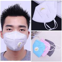masque respiratoire achat en gros de-MP2.5 Masque Anti-Haze Soupape Respiratoire Masque Anti-Poussière Masque Jetable Masque Visage Filtre Respirateur Mouth-Muffle