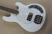 Wholesale ernie ball musicman guitars for sale - new Ernie Ball Musicman Sting Ray Strings white Electric Bass Guitar active pickups