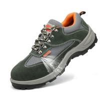 ingrosso stivali da lavoro maschili-puntali in acciaio traspirante di grandi dimensioni di moda per uomo scarpe da lavoro di sicurezza, stivali da lavoro anti-perforazione