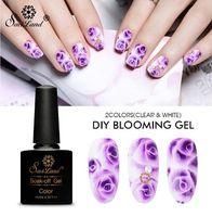 Wholesale nail polish for sale - 10ML Blossom Nail Gel Nail Art DIY Magic Blooming Effect Flower Gel Polish Soak Off UV Nail Glue Gel Varnish