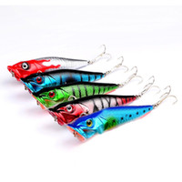Wholesale bionic minnow fishing lures for sale - Group buy 1pc Popper Fishing Lure Bass Crankbaits Bait Tackle Minnow Fish Lure ABS plastic bionic decoy wave Fishing Lures