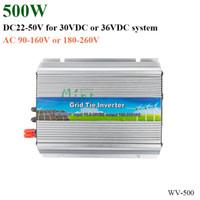 ingrosso griglia legata inverter di potenza-Promozione!!! Micro inverter da 50 W a 20-50 V cc, 190-260 V CA, che funziona con un sistema di alimentazione solare da 30 V o 36 V o un impianto eolico