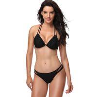 Wholesale retro swimwear sale online - Hot Sale Retro Bandage Swimwear Women Push Up Bikini Sexy Swimsuit Beachwear Swimming Bathing Suit Brazilian Biquini