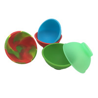 Wholesale pinch bowls resale online - FDA Bho Silicone Pinch Bowl Non stick Silicone Wax Container for Slick butane Oil Concentrate Dab wax jar