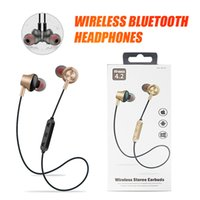 Wholesale Wireless Bluetooth Headphones Magnetic Earbuds Sport Sweat Proof Earphones Best Headset For iPhone Xr Xs Max For Phone with retail package