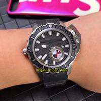 maxi relojes marinos al por mayor-Nuevo Limited Maxi Marine Diver 3203-500LE-3/93 HAMMER Dial negro Reloj automático para hombre Estuche de plata Correa de goma Relojes deportivos de alta calidad