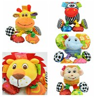 Wholesale baby crib toys mobile - Baby Plush Rattles Soft Animal pendant Toy Travel Arch Stroller Hanging Crib Mobiles For Newborn Babies DDA36