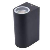 aplique al por mayor-El más nuevo diseño GU10 llevó la lámpara de pared Arriba y abajo Aplique Lámparas de pared AC85-265V 10W Lámpara de soporte (dos lados 5W)