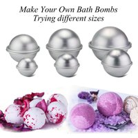 Wholesale bath bomb moulds for sale - Group buy New Widely Use Mould Aluminum Ellipsoid Bath Bomb D Cake Mold Bath Bomb Molds Pan Baking Mold Pastry Mould