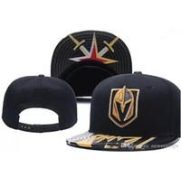 dosen visier großhandel-Neueste Vegas Golden Knights Hockey Hysteresenhüte Caps Gold / Schwarz / Grau Visier Alle Teams Hüte können gemischt bestellen alle Caps Top Qualität Hut