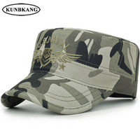ingrosso cappello piano camo-New Brand Camo Army Snapback Cap Uomo Tattico US Navy Seal Berretto da baseball Ali da ricamo Bone Sport Camouflage Sun Flat Top Hat