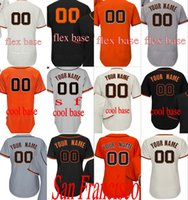 Wholesale Base Number - Men's women youth San Francisco Customized any name number 28 Buster Posey Flexbase Blue Cool Base white grey Baseball Jersey stitched s-4xl