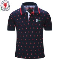Wholesale blue polo shirts for men for sale - New Men Polo Shirt Mens Solid Polo Homme Casual Short Sleeve Tops for Man Full Print Cotton Plus Size Designer Polo
