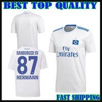Wholesale hamburger man - 18 19 Hamburger SV soccer jersey home white 2018 2019 hsv Lewis Holtby Filip Kostic Aaron Hunt Bobby Wood football shirts top quality