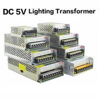 Wholesale Ws2812b Led Strip - 5V 2A 3A 4A 5A 8A 10A 12A 20A 30A 40A 60A Switch LED Power Supply Transformers WS2812B WS2801 SK6812 SK9822 APA102 LED Strip
