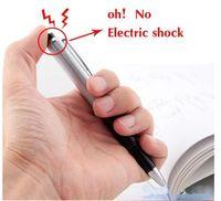 Wholesale novelty jokes - 2018 Promotion Fancy Ball Point Pen Shocking Electric Shock Toy Gift Joke Prank Trick Fun Novelty Friend's Best Gift