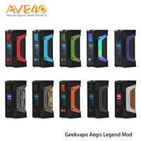 modos de caixa de tc para venda por atacado-100% Original Geekvape Aegis Legend Mod 200 W TC BOX Mod Popwered Por Dual 18650 Bateria 510 Fio