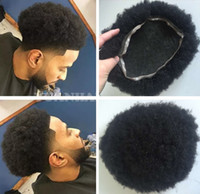 Wholesale virgin human hair afro wig for sale - Group buy Afro Toupee for Basketbass Players and Basketball Fans Full Lace Men s Wig Hair Pieces Brazilian Virgin Human Hair Replacement