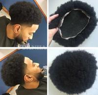 les fans de cheveux achat en gros de-Afro Toupee pour les joueurs de basket-ball et les fans de basket-ball Full Lace Hommes cheveux perruque brésilienne vierge de remplacement de cheveux humains livraison gratuite