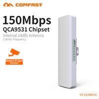v2 uzun toptan satış-COMFAST CF-E214N-V2 yüksek güç 14dBi anten Açık Wifi Alıcısı Uzun menzilli Kapsama sinyali / açık CPE / AP