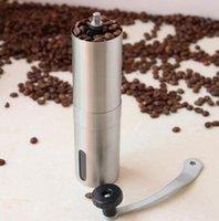 baharatlar için el değirmeni toptan satış-Paslanmaz Çelik Manuel Kahve Çekirdeği Değirmeni Değirmenler Makinesi El Konik Kahve Çapak Değirmeni Biber Baharat Mills Mutfak Aracı