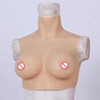 ingrosso petto naturale falso-Enorme allargamento naturale del seno del silicone artificiale realistico realistico della tazza di C della tazza di C per il travestito Transessuale Sissy Boy travestito